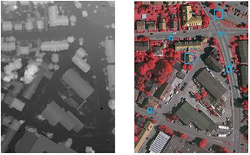 Two aerial images (multi-source and multispectral).