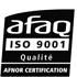 Logo AFAQ ISO 9001.