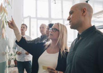 Brainstorming entre des clients et l'équipe Berger-Levrault.