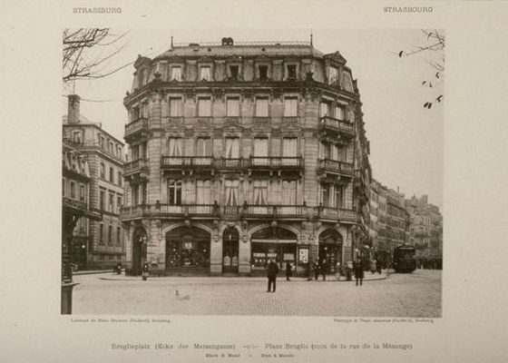 Photo de la librairie Berger-Levrault de Strasbourg en 1918.