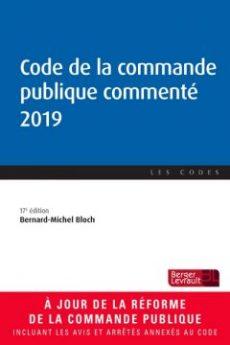 Ouvrage code de la commande publique commenté 2019.