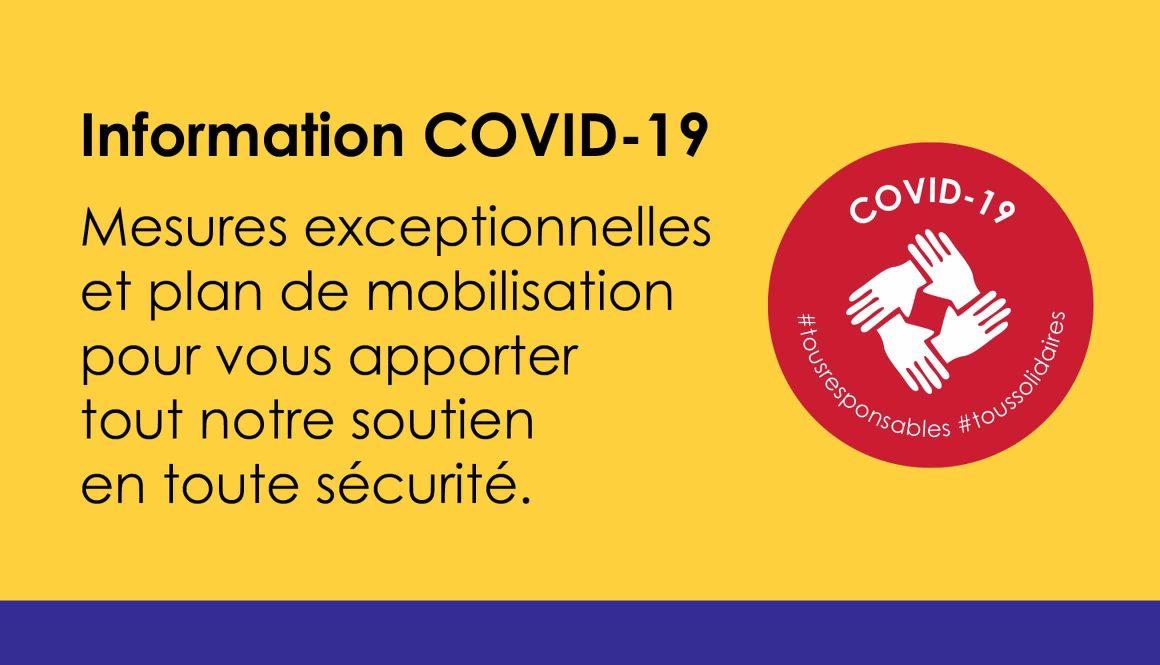 Bulletin d'informations COVID-19.