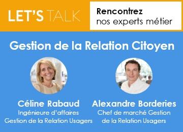 Webinaire Let's Talk de la gestion Relation Citoyen.