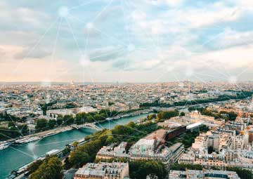 Une ville française connectée.