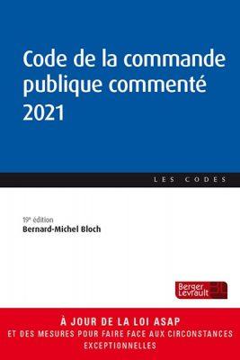 Ouvrage Code de la commande publique commenté 2021.