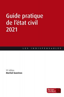 Ouvrage Guide de l'état civil 2021.