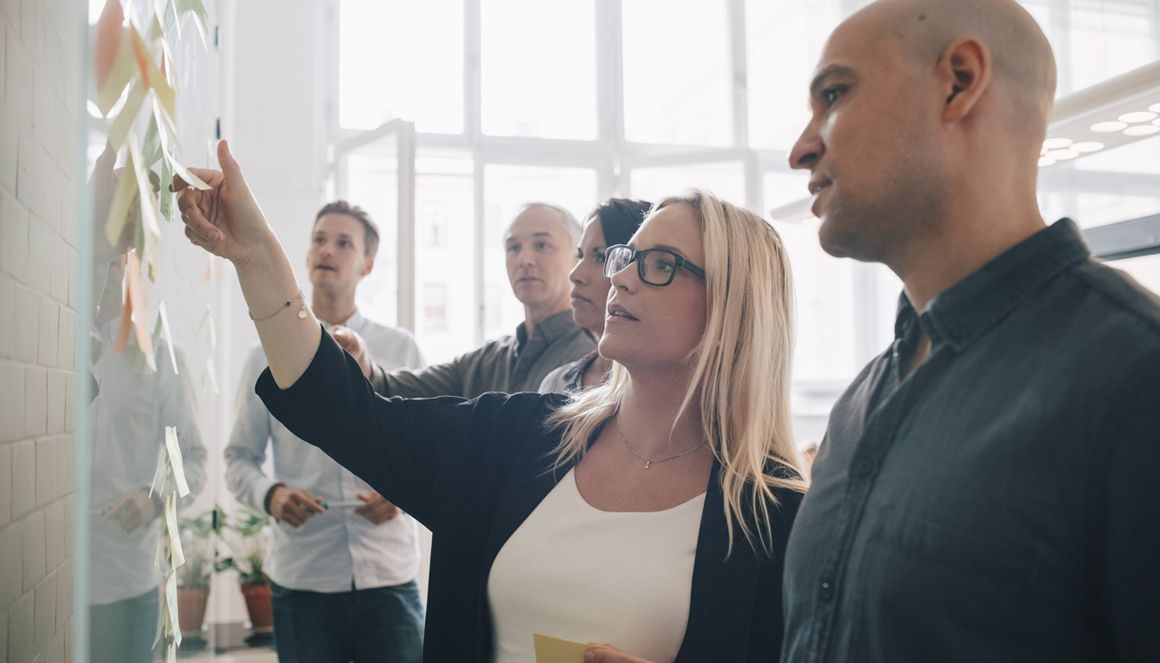 Brainstorming entre des clients porteurs et l'équipe Berger-Levrault.