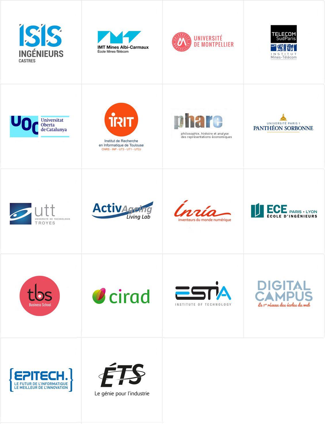 Liste des écoles et universités partenaires.