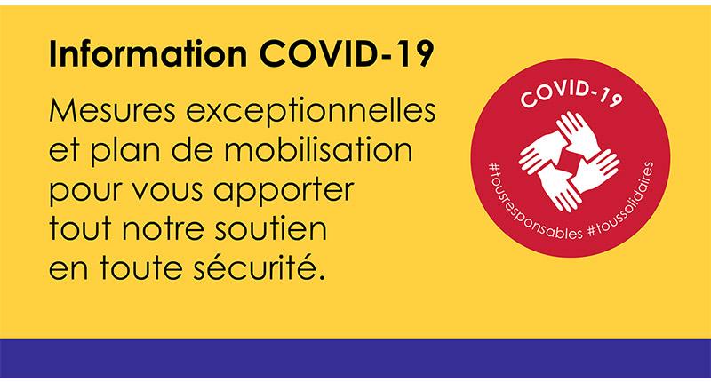 Bannière Information COVID-19