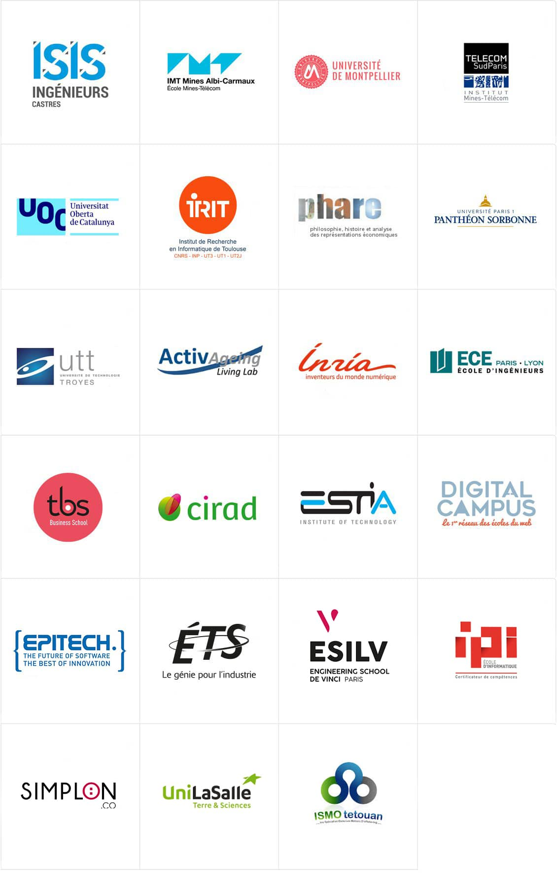 Universities and colleges logos' list.